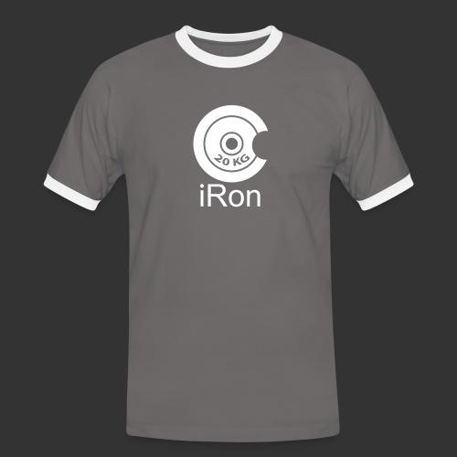 iRon - Hantel - Männer Kontrast-T-Shirt