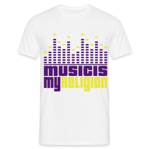 Music is my Religion T-shirt - Men's T-Shirt