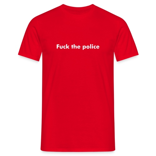 Fuck the police - T-shirt herr