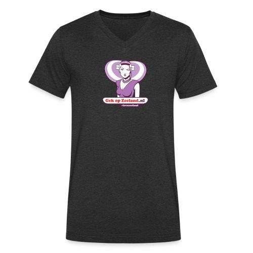Vo kaerels die borsthaer wille tonen. #lovezeeland - Mannen bio T-shirt met V-hals van Stanley & Stella