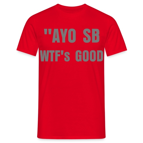 Red&Grey AYO SB Tee *Seen On Scaff Beezy* - Men's T-Shirt