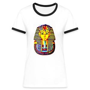 T shirt femme pharaon - T-shirt contrasté Femme