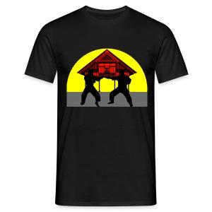 T shirt homme temple combat - T-shirt Homme