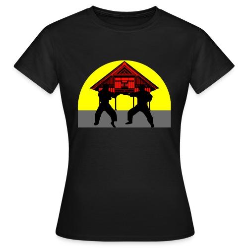 T shirt femme temple combat - T-shirt Femme