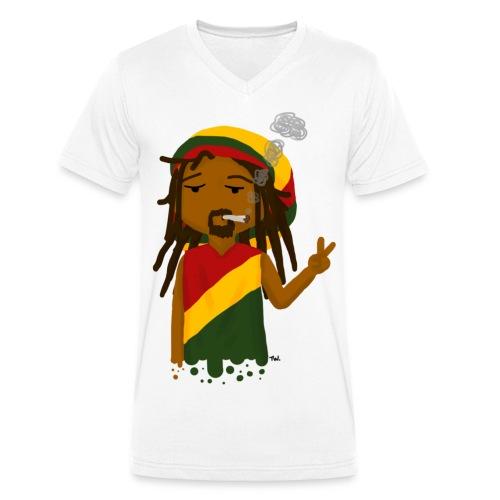 Rasta Boy - Mannen bio T-shirt met V-hals van Stanley & Stella