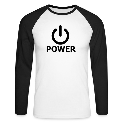 POWER - Maglia da baseball a manica lunga da uomo