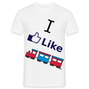 I Like Trains - Men's T-Shirt