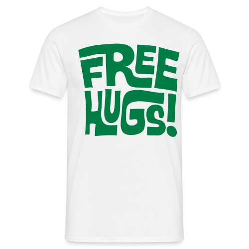 FREE HUGS MENS TEE GREEN - Men's T-Shirt