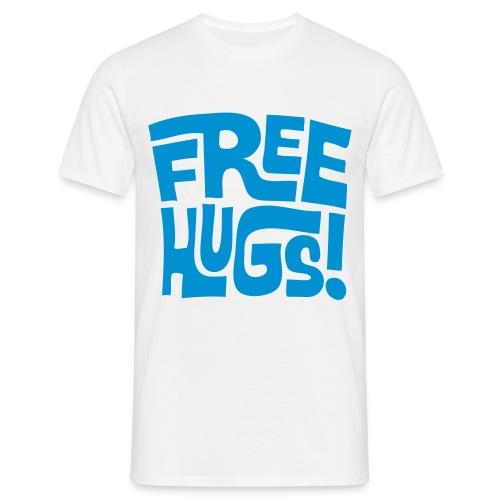 FREE HUGS MENS TEE LIGHT BLUE - Men's T-Shirt