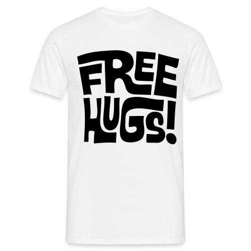FREE HUGS MENS TEE BLACK - Men's T-Shirt