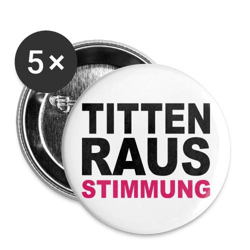 Mieser Button mit frechem Spruch... - Buttons mittel 32 mm (5er Pack)