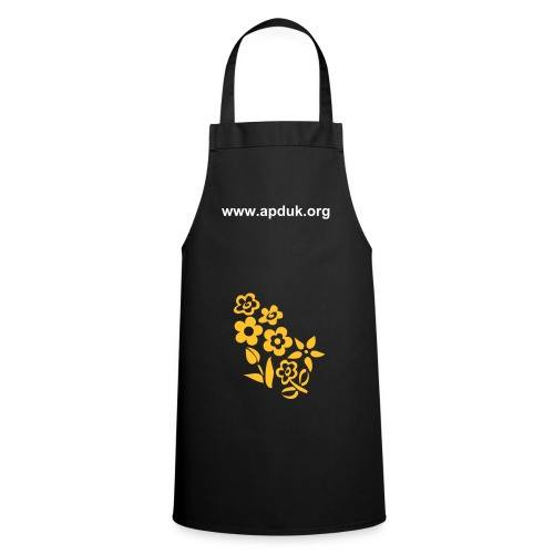 Golden flower apron - Cooking Apron
