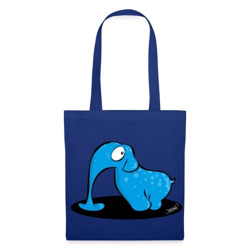 Blauer Elefant - Stoffbeutel