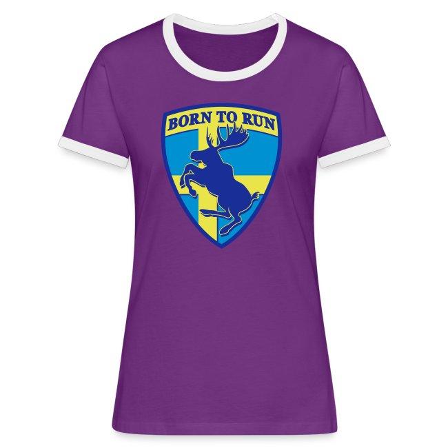 T-shirt contraste femme - Elan cabré