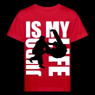 Tee shirts ~ Tee shirt Bio Enfant ~ T shirt enfant judo is my life