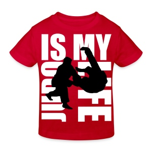T shirt enfant judo is my life - T-shirt Bio Enfant