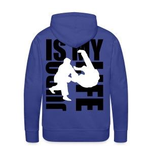 Sweat à capuche homme judo is my life - Sweat-shirt à capuche Premium pour hommes