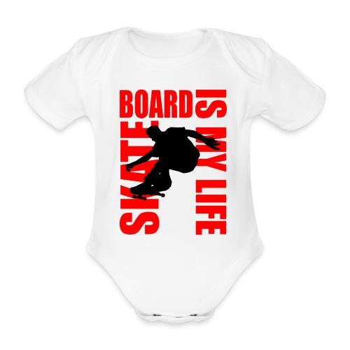 Body bébé skateboard is my life - Body bébé bio manches courtes