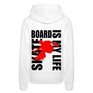 Sweat à capuche femme skateboard is my life - Sweat-shirt à capuche Premium pour femmes