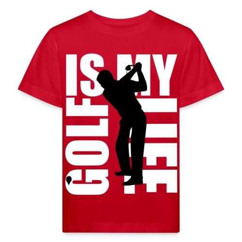 T shirt enfant golf is my life - T-shirt bio Enfant