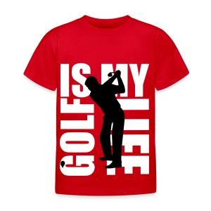 T shirt enfant golf is my life - T-shirt Enfant