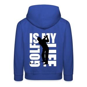 Pull à capuche enfant golf is my life - Pull à capuche Premium Enfant