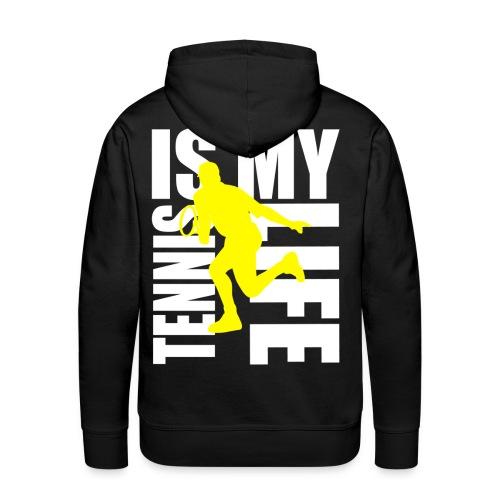 Sweat à capuche homme tennis is my life - Sweat-shirt à capuche Premium pour hommes