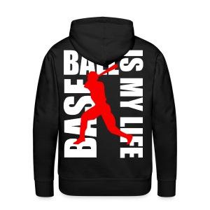Sweat à capuche homme baseball is my life - Sweat-shirt à capuche Premium pour hommes