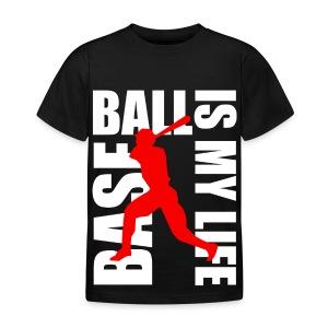 T shirt enfant baseball is my life - T-shirt Enfant