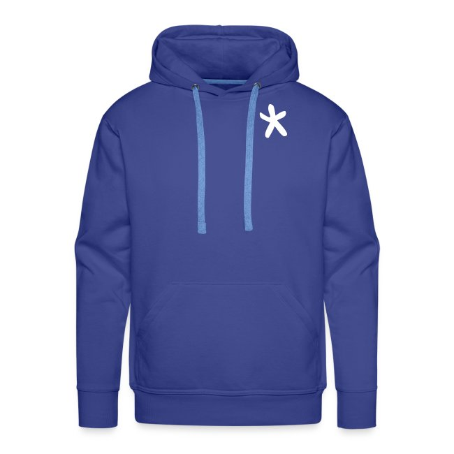 Wills hoodie (with a star on the front and a Cwtch* on the back)