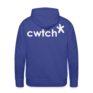 Wills hoodie (with a star on the front and a Cwtch* on the back) - Men's Premium Hoodie