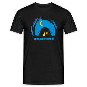 Männer T-Shirt - Mein Zuhause ist dort, wo mein Zelt steht.