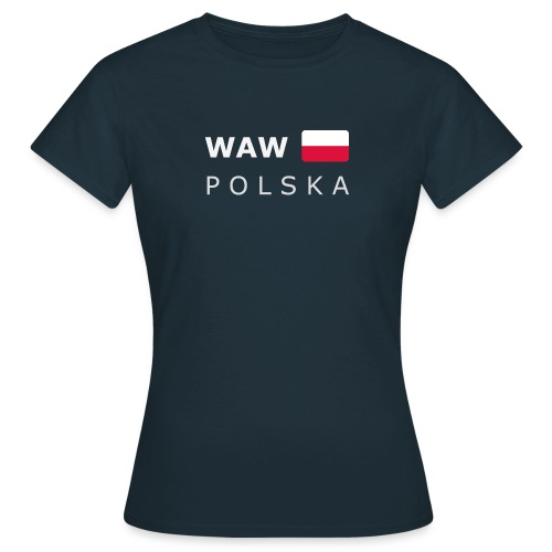 Women's T-Shirt WAW POLSKA white-lettered - Women's T-Shirt