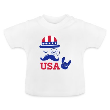 Cool USA American Sir with flag rocks for sports   champion and election vote America t shirts Baby Shirts