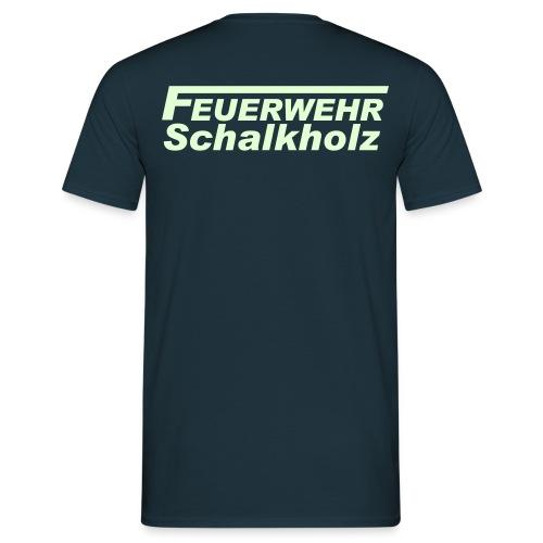 Shirt Navy mit Leucht-Logo - Männer T-Shirt