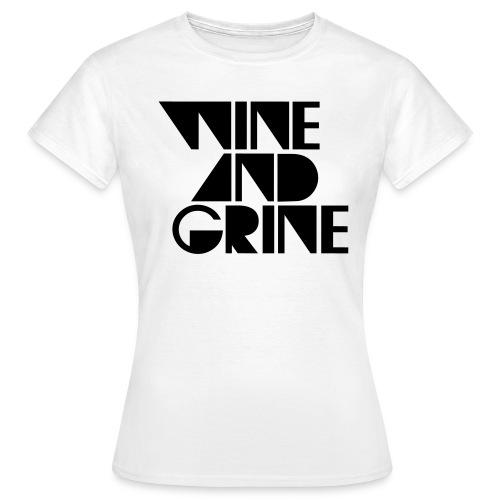Wine & Grine Black Logo Tee - Women's T-Shirt