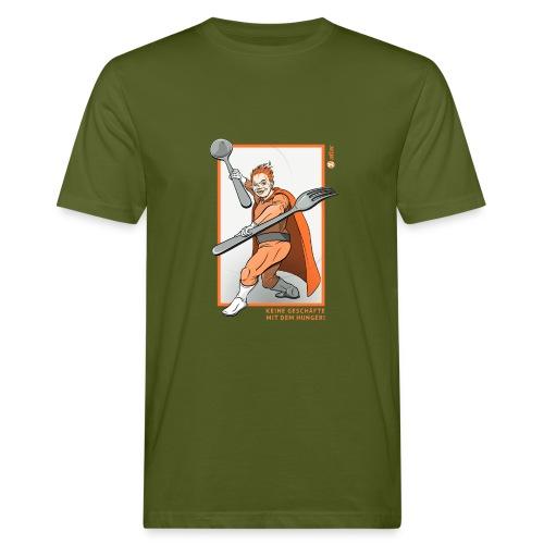 Superheld Hunger - Männer Bio-T-Shirt