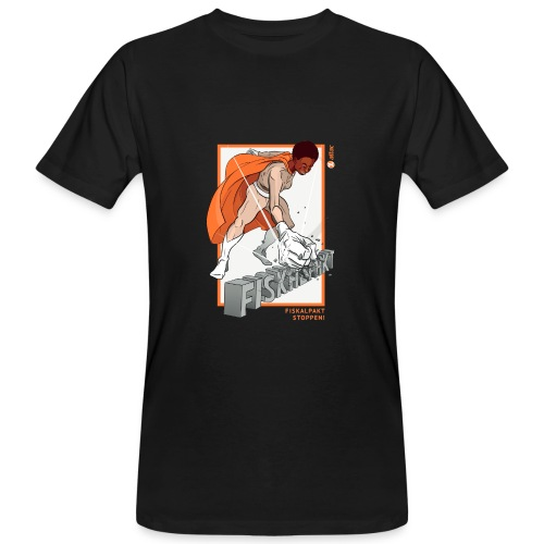 Superheld Fiskalpakt stoppen - Männer Bio-T-Shirt