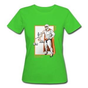 Superheld Reichtum umverteilen Girly - Frauen Bio-T-Shirt