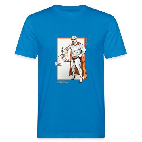 Superheld Reichtum umverteilen - Männer Bio-T-Shirt