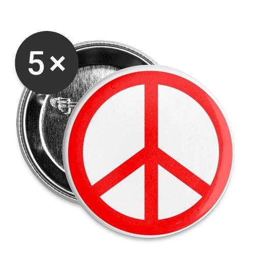 peace and love - Lot de 5 petits badges (25 mm)