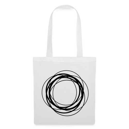 Excentric black on white bag - Tote Bag