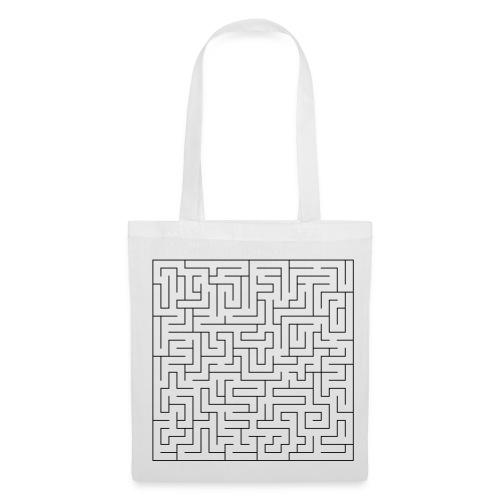 Labyrinth black on white bag - Tote Bag