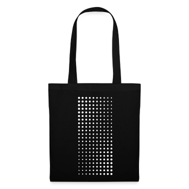 Halftone white on black bag