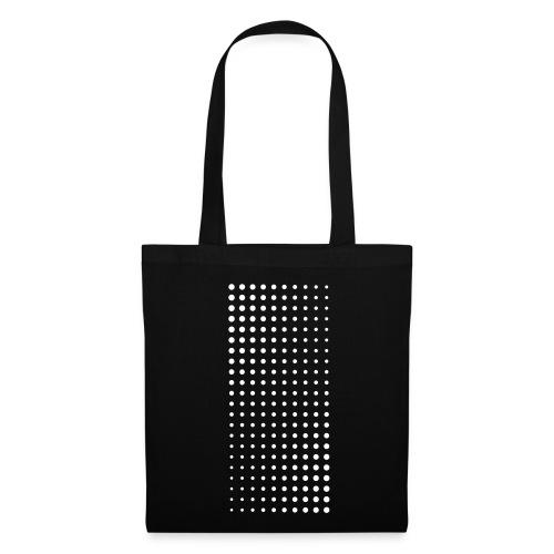 Halftone white on black bag - Tote Bag