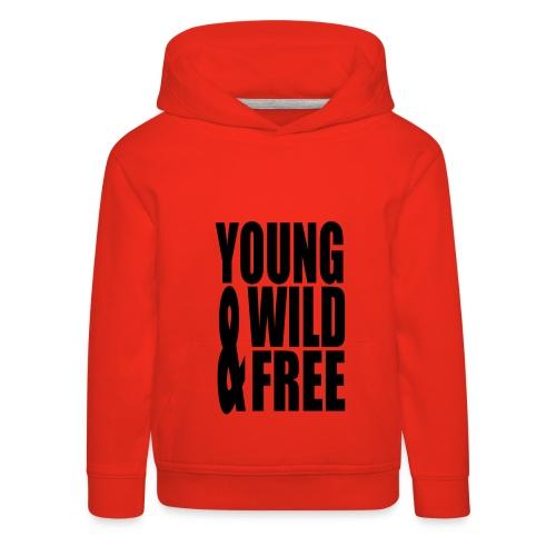 Kinderen sweater met tekst - Kinderen trui Premium met capuchon