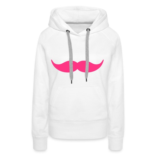 moustache - Vrouwen Premium hoodie