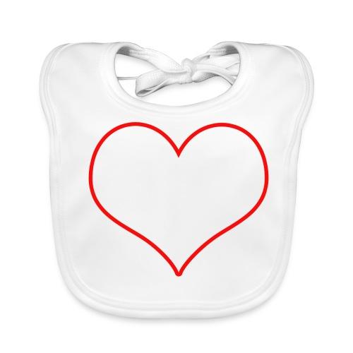 Coeur rouge transparent - Bavoir bio Bébé