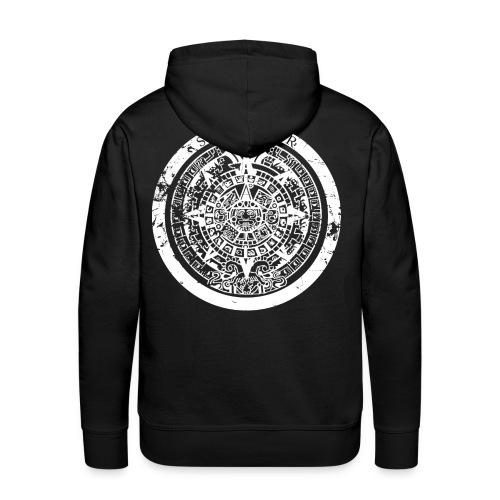 Sun Warrior hoodie with Mayan calendar - Men's Premium Hoodie