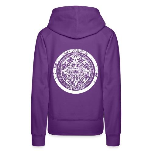 Sun Warrior hoodie with Mayan calendar - Women's Premium Hoodie